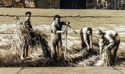 Tavascan homenatja als seus avantpassats amb un mural